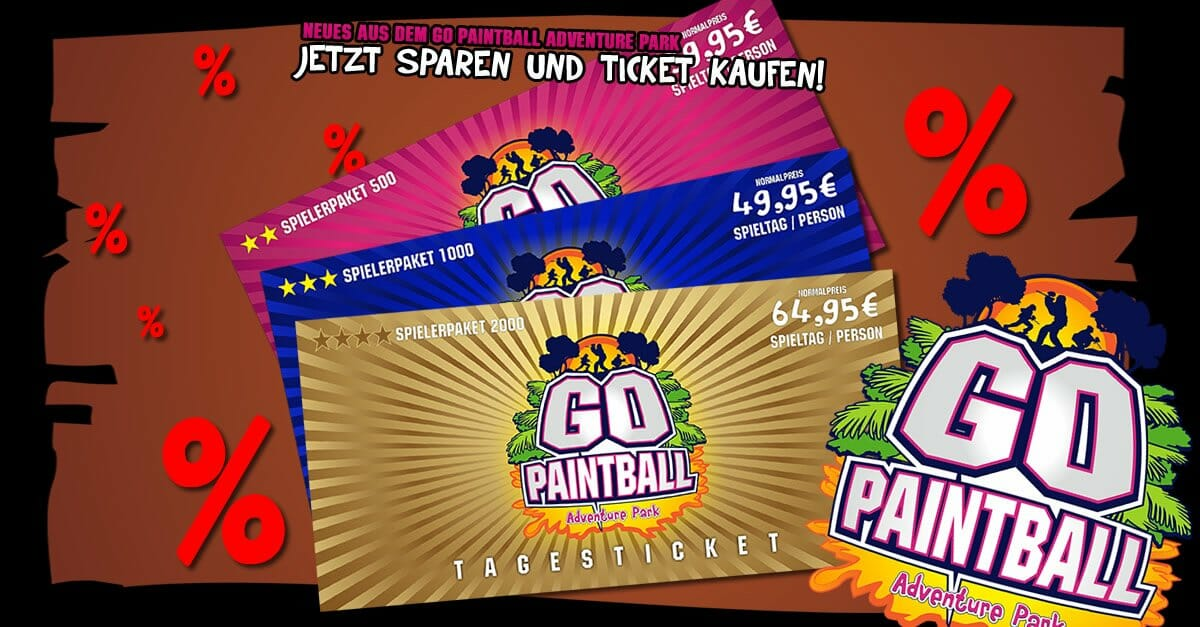 GO PAINTBALL ADVENTURE PARK - Tagesticket